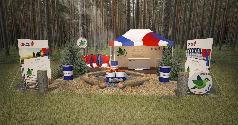 mötesplats i skogen